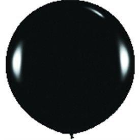Globos (R-36)  de 90 cm aprox Color Negro Solido (10 ud)