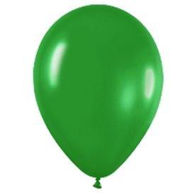 Globos (R-5) de 13 cm aprox Color Verde Selva Solido (100 ud)R5-032 Sempertex