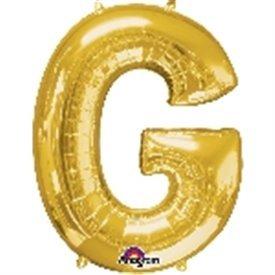 Globo Letra G Gigante, de Color Oro.