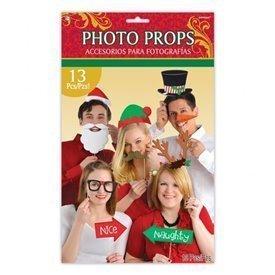 Accesorios Photocall palito Navidad (13 pza)395012 Amscan