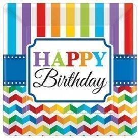 Plato Happy Birthday de 17,7 cm aprox (8)541465 Amscan