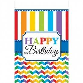 (BP) Mantel Happy Birthday Plástico de 1,2 x 1,8 m aprox.