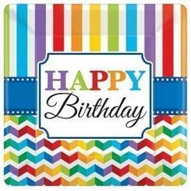 Plato Happy Birthday de 25,4 cm aprox (8)591465 Amscan