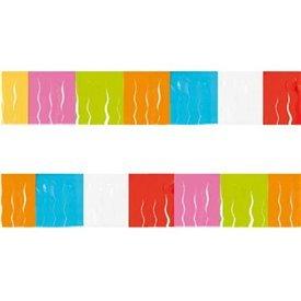 Guirnalda Flecos Plástico Multicolor, (25 Mts)