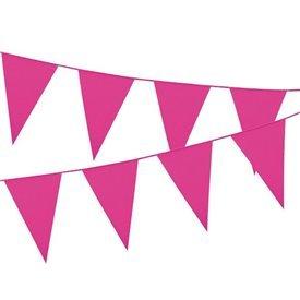 Banderín Triangulo Plástico Color Rosa (5Mts)