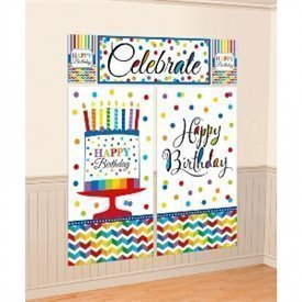 Decoracion Pared (5pz) Happy birthday