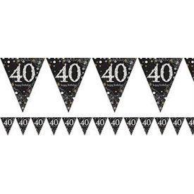 Banderin triangulos 40 Prismatic Plata/oro 4 metros