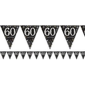 Banderin triangulos 60 Prismatic Plata/oro 4 metros9900570 Amscan