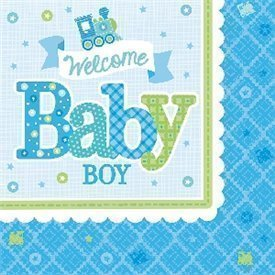 Servilletas Bienvenido Baby Boy de 33 cm aprox. (16)