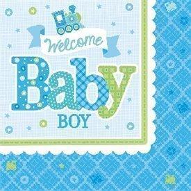 Servilletas Bienvenido Baby Boy de 33 cm aprox. (16)511461 Amscan