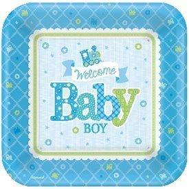 Platos Bienvenido Baby Boy de 27 cm Aprox (8)591461 Amscan