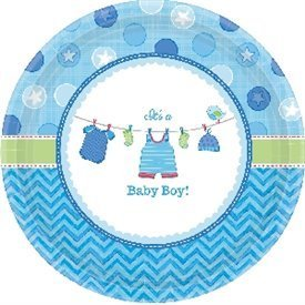 Platos Baby shower Boy Blue de 27 cm aprox. (8)