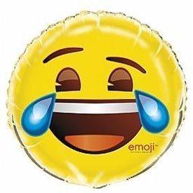Globo foil de 45cm Emoji lloron