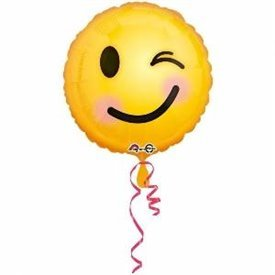 Globo foil de 45cm Emoji guiño