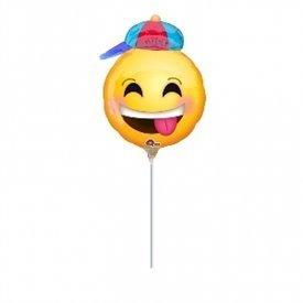 Globo Emoji Niño Sonriente palito