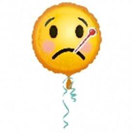 Globo Emoji Enfermo 45 cm ( Empaquetado)3369801 Anagram