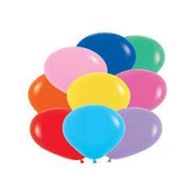 Globos Colores Surtidos Solid Basic R12 de 30 cm aprox(50 ud)R12-000 Sempertex