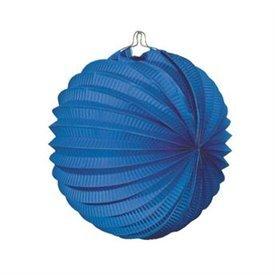 Farolillo de papel color Azul, de 22 cm.