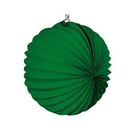 Farolillo de papel color Verde Oscuro, de 22 cm.
