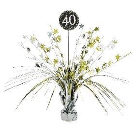 Centro de mesa 40 cumpleaños plata/oro110294 Amscan