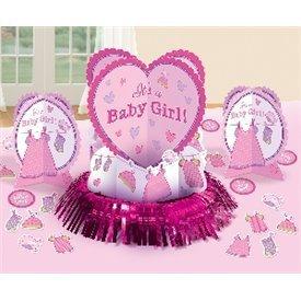 Kit decoracion mesa Baby Girl (23piezas)281489 Amscan