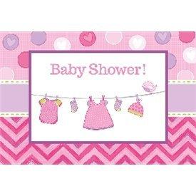 Invitaciones (8) Baby showerGirl491489 Amscan