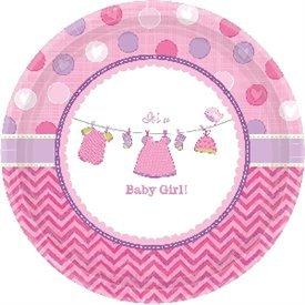 Platos Baby Girl de 26,6 cm (8) (BP)591489 Amscan