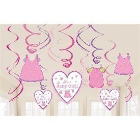 Decoracion Colgante (6x2) Baby Girl671489 Amscan