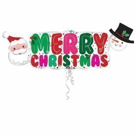 Globo Merry Christmas foil