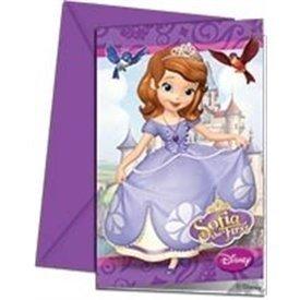 Invitaciones Princesa Sofia (6)82301 Amscan
