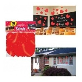 Decoracion Pared (30 pza) Corazones198653 Amscan