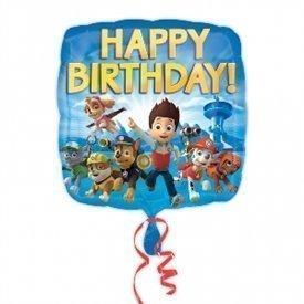 Globo Happy Birthday Patrulla Canina 45cm