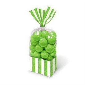 Bolsa celofan rayas verde kiwi (10)377554-53 Anagram