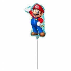 Globo Mario Bros foil palito