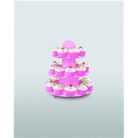 Stand Soporte para Cupcake RosaUN-90307 Unique