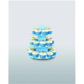 Stand Soporte Cupcake AzulUN-90399 Unique