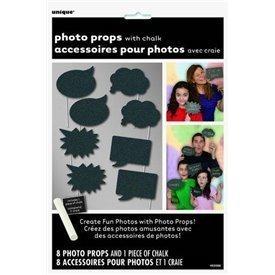 Accesorios Photocall Personalizables (Incluye Tiza) (8)UN-63566 Unique