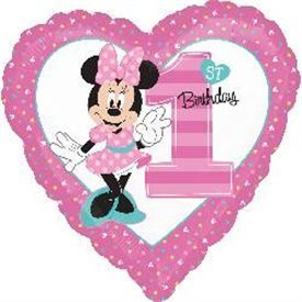 Globo Minnie Corazon 1º Cumpleaños
