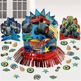 KIT decoracion mesa Blaze y los Monster Machines