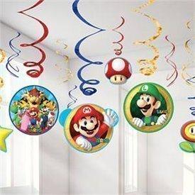 Decoración colgante (6x2) Super Mario Bross671554 Amscan