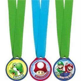 Mini medallas Super Mario Bros (12)396611 Amscan