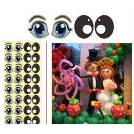 Pegatinas de ojos para globos