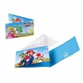 Invitaciones Super Mario Bros (8)491554 Amscan