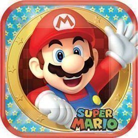 Platos Super Mario Bros de 23 cm (8)551554 Amscan