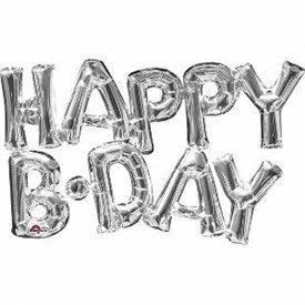 Globo Frase Happy Birthday Plata3309501 Anagram