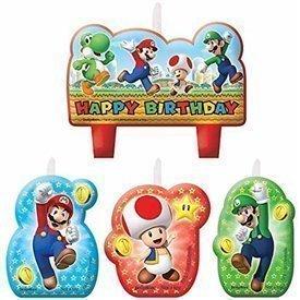 Velas Super Mario Bros (4)171554 Amscan