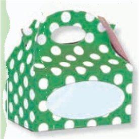 Cajitas Verdes con Puntos Blanco Automontable con Ventana (12)