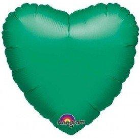 Globo Con Forma de Corazón de Aprox 45cm Color VERDE METAL1055701 Anagram