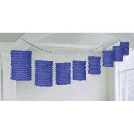 Guirnalda Farolillos Color Azul Fuerte ( Farolillos de 10x14 cm de 3,6 M)22055-105 Amscan