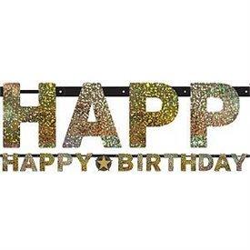Guirnalda Banderin Happy Birthday Prismatic
